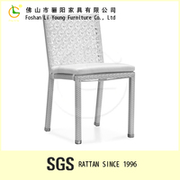 2015 American style white pure harmless handmade rattan auditorium chair , eco-friendly plastic bottom for chairs and bar stools