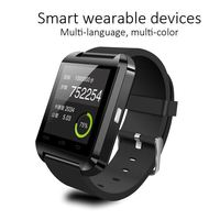 Cheap wholesale big promotion bluetooth smart watch u8 for iPhone, u8 smart watch with TFT LCD touch screen