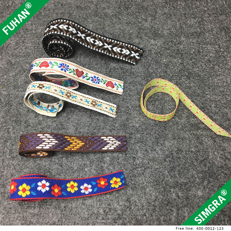 Colorful Woven National Webbing Tape For Garment Accessories