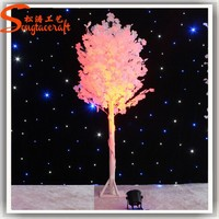 Hot new products for 2015 Wholesale artificial fake plastic pink white tree wedding wishing blossom decorative tree decor