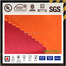 Low formaldehyde woven cotton twill Pyrovatex CP fabric for garment and pants OEM manufacture