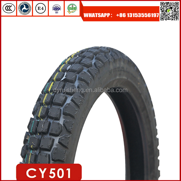 Dongying Ruisheng motorcycle tyre factory 3.00-18 off road tires