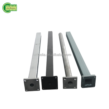 Different size and height fence post,alminum/square steel fence posts