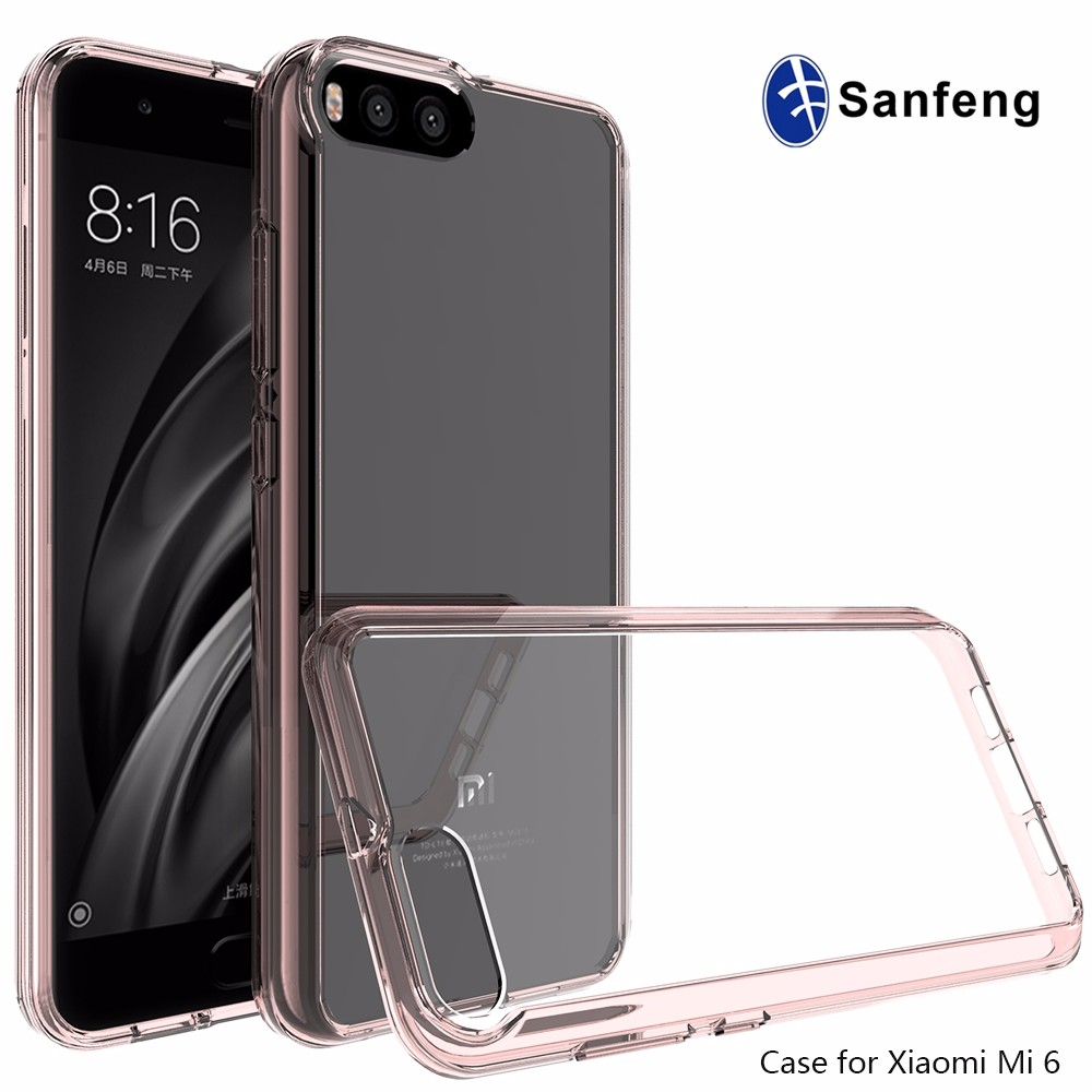Top sell <strong>2</strong> in 1 hybrid Case for Xiaomi 6 anti-drop Hard PC Back Cover Case
