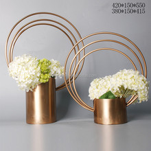 Stainless steel flowerpot/metal handicraft/flower display shelf