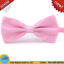 Good price handmade solid color ladies neck bow tie hair bow