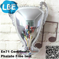 inflated plastic balloon advertising toy trophy cup