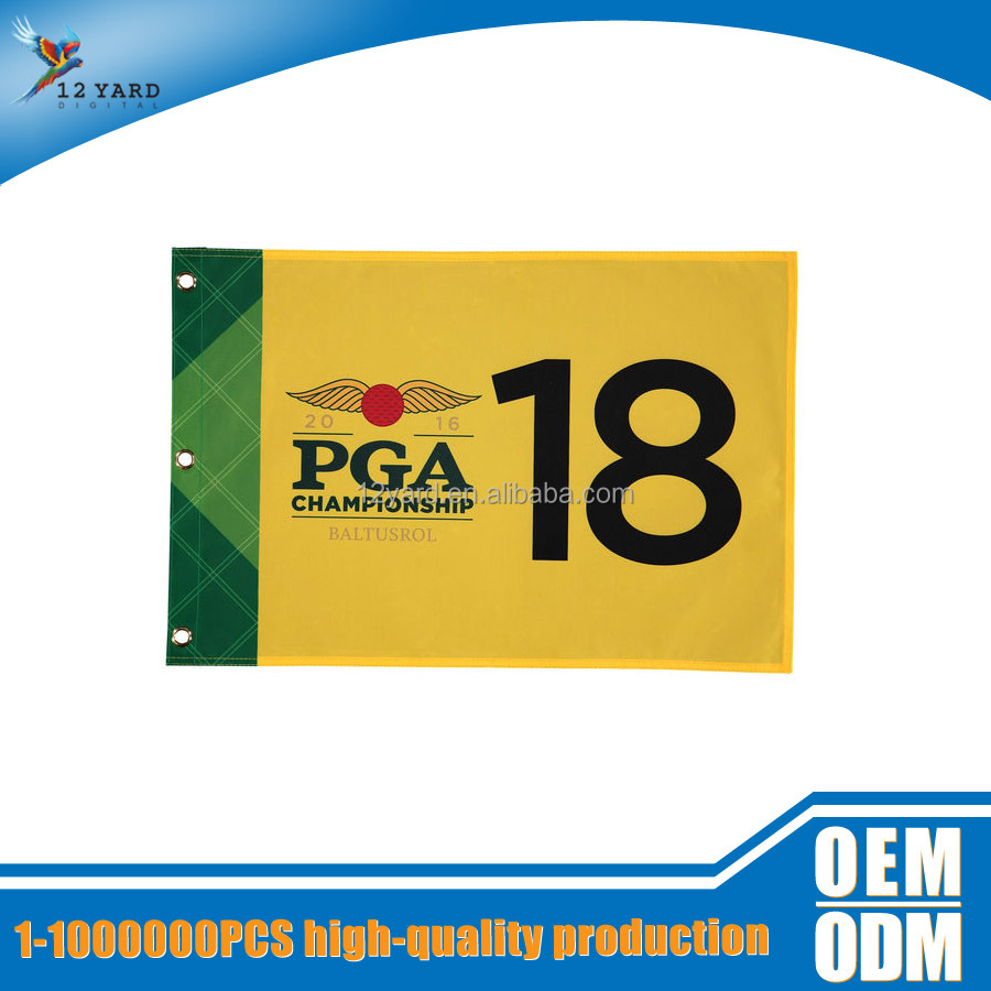 sublimational golf CHAMPINSHIP printed large flag sport club anniversary flag