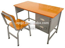 2015 China Office Desk Metal Frame School Teacher Desk with Chair