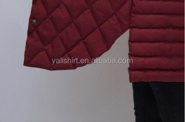 Newest design custom long style diamond quilted ultra light down jacket for women