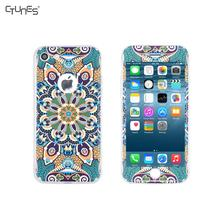 Luxury Colorful Mandala 360 Degree Full Body Front & Back Matte Soft TPU Shock Absorbent Shell Case Cover Skin For iPhone8