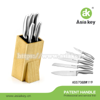 Hollow Kitchen Knives Set Wholesale Manufacturer With Wooden Block