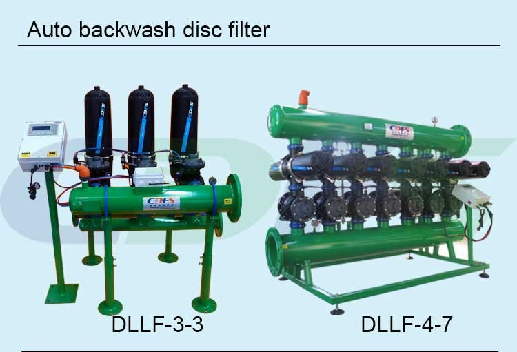 Automatic backwash micron water disc filters for drip