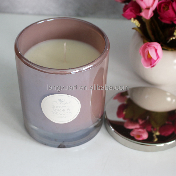 10X10cm cheap natural coconut candle wax with stainless steel lid