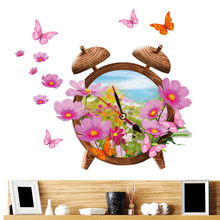 New products sofa background adornment wooden alarm clock 3d decals for walls