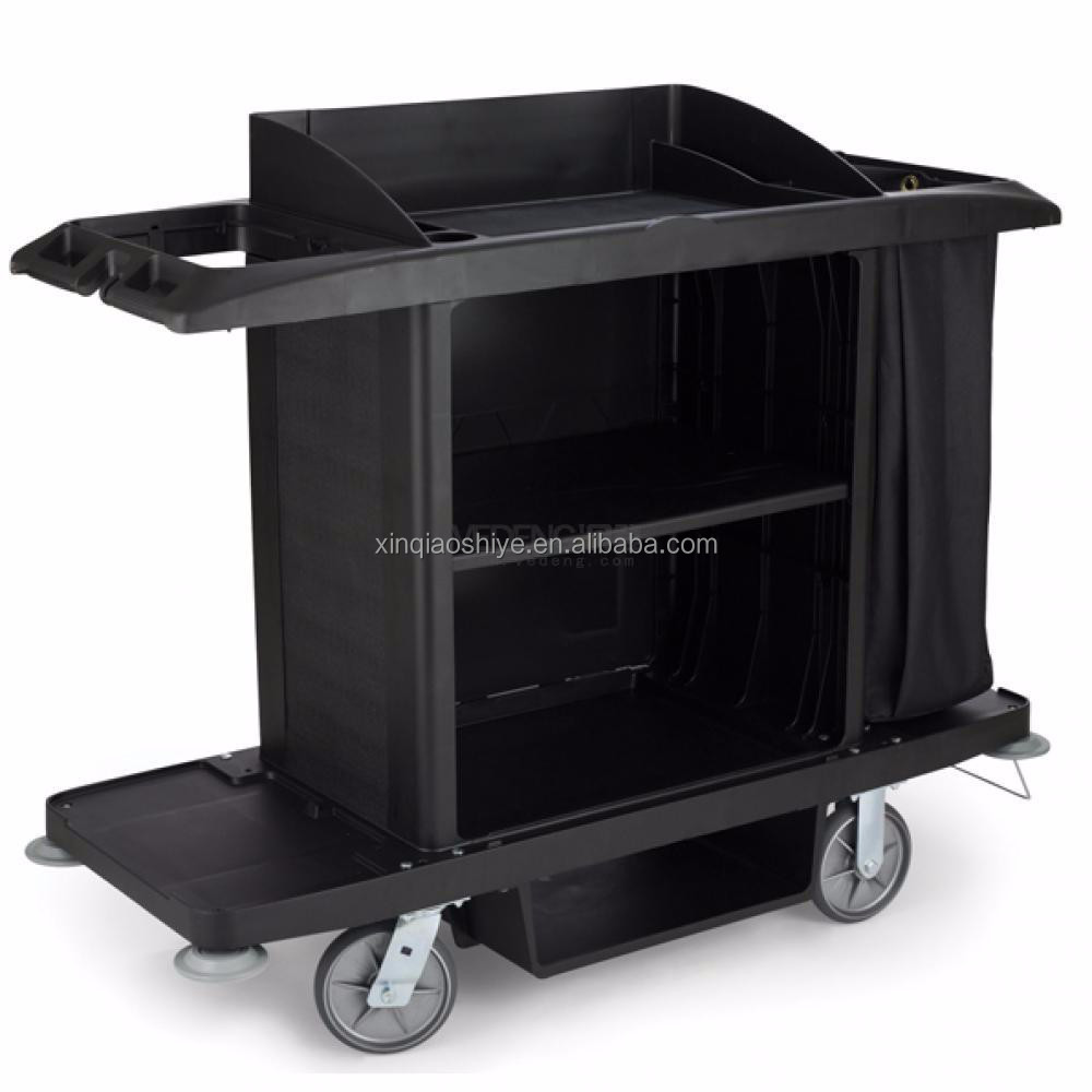 Plastic housekeeping cart maid cart cleaning cart