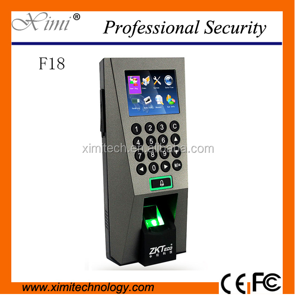Linux system zksoftware fingerprint access control F18 time attendance optional RFID card EM card reader or IC card reader