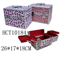 aluminum professional deluxe rolling cosmetic train case