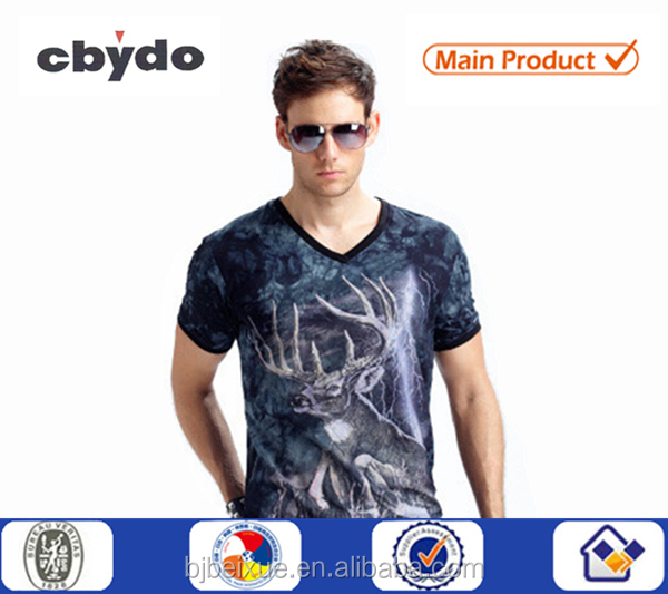 new design animal printed t shirt factory-made black t shirt for los hombres with 3d tshirt printing