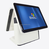 AK-915TD Double Touch Screen Retail POS system All in One POS Terminal