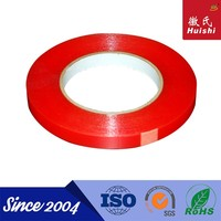 Heat resistant PET tape double side acrylic PET clear tape red film liner