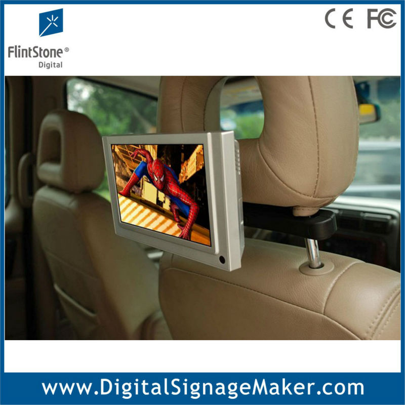 "7"" inch lcd Taxi/Car advertising monitor display with moton sensor"