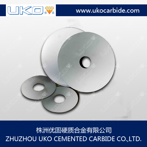 solid tungsten carbide saw disc blanks for making slitting saws for cutting paper