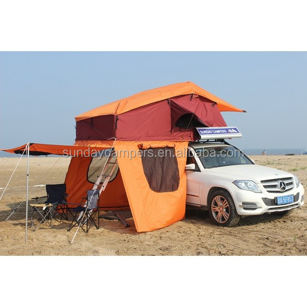 for car camping 4x4 offroad Mosquito net military tent/Truck Roof top tent for Car wash