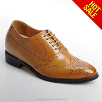 Guangzhou factory direct height increasing caw leather hand made dress shoes sapato shoes /shoe manufacturer/buy shoes online