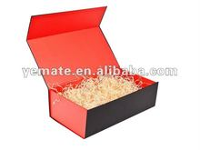 New product 2012 red paper cardboard hair extention packaging box, hair extension package,weave hair packaging design box