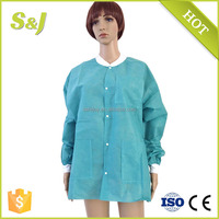 Green Hospital Uniform Disposable SMS Lab Work Lab Coat Medical Uniform