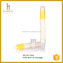 Empty recycled case plastic pen tube lip balm packaging tube for young girl