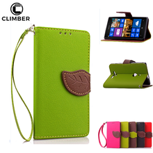 Luxury Wallet PU Leather Flip Case For Nokia Lumia 930 730 925 950 830 650 3 5 Cover Case With Hand Strip