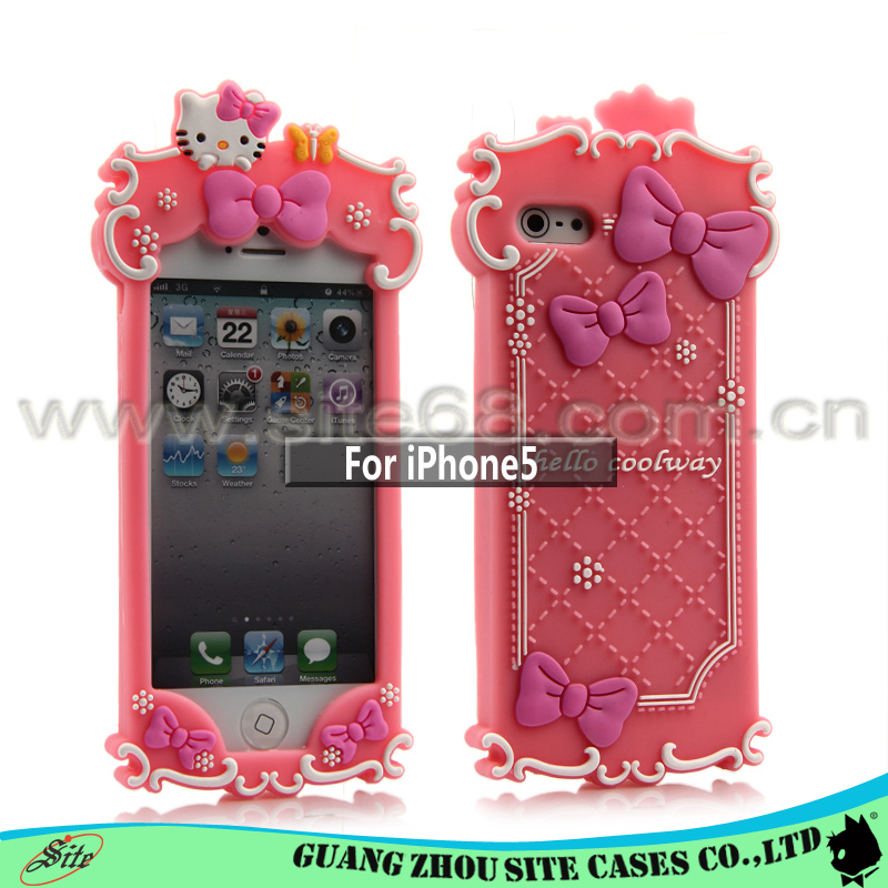 Cute case back cover soft silicone cell phone case for iphone 5