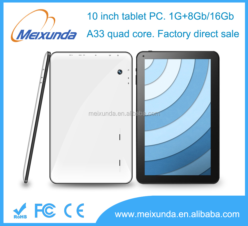 Factory sales 10.1 inch tablet pc android 4.4 Allwinner A33 quad core 1024*600 tablet pc