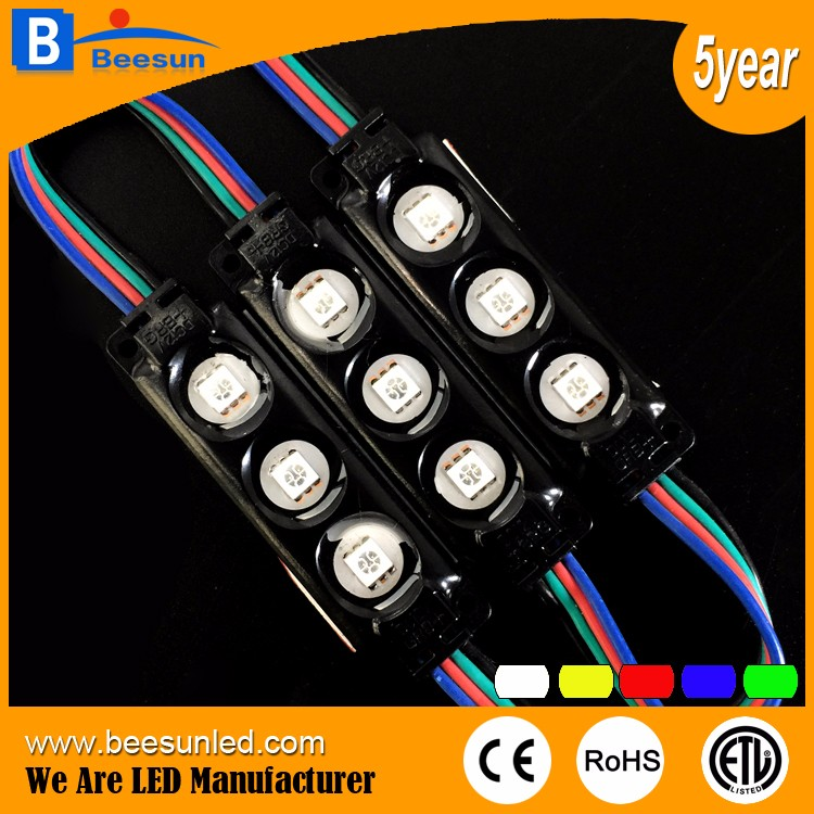 5years warranty colorful high brightness RGB led module 12volt waterproof 0.72W