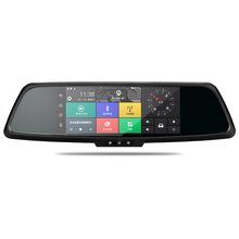 7inch gps navigation android 1080p rearview mirror carcam manual dual lens car double camera video recorder wdr hd dvr