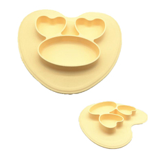 Factory Supply New Silicone Kids Baby Silicone Divided Bowl Plate