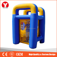 Customized PVC inflatable money game machine for sale