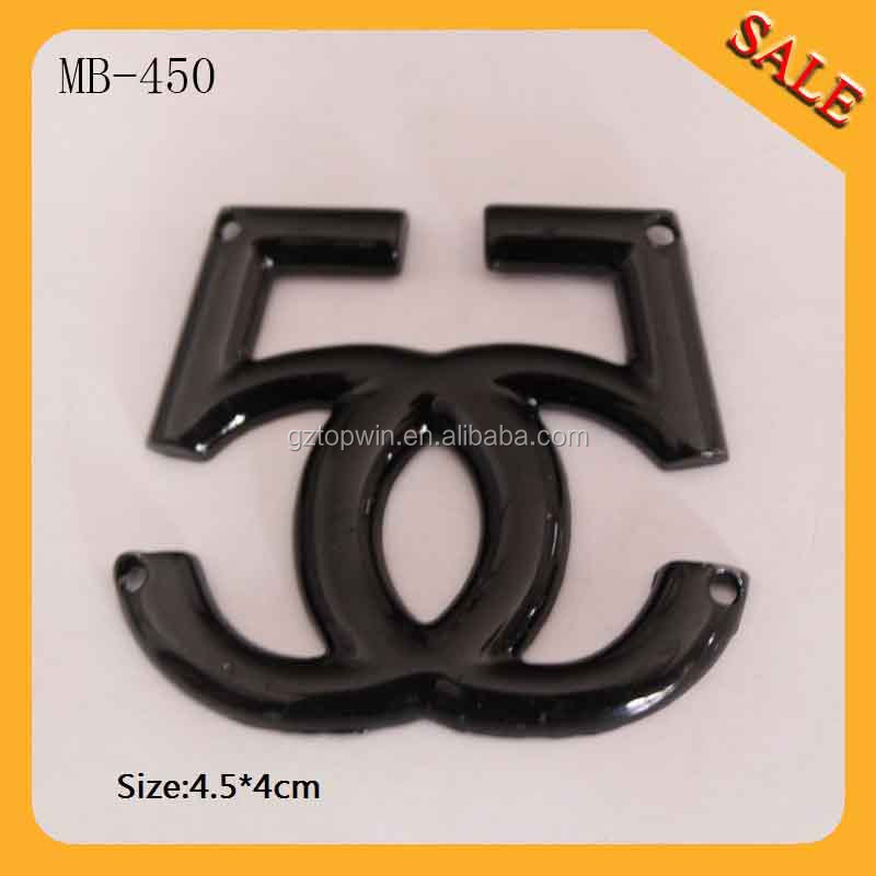 MB450 designer metal labels and tags for handbags/designer metal labels and tags for handbags