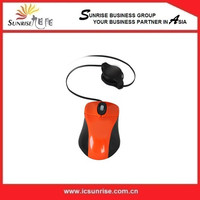 Laptop Small Mouse With Retractable Cable