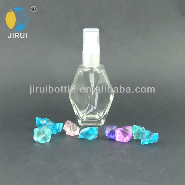 60 ml perfume pump spray glass bottle with clear colour