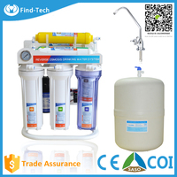 alkaline water filter pitcher with water tank filters PP sediment+GAC+CTO OR KX CARBOM+RO membrane+alkaline filter+mineral