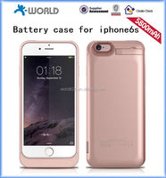 Rose Gold 5800mAh Power Bank Battery Case for iPhone 6S with Stand