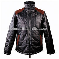 Handsome men's winter waterproof leather jacket