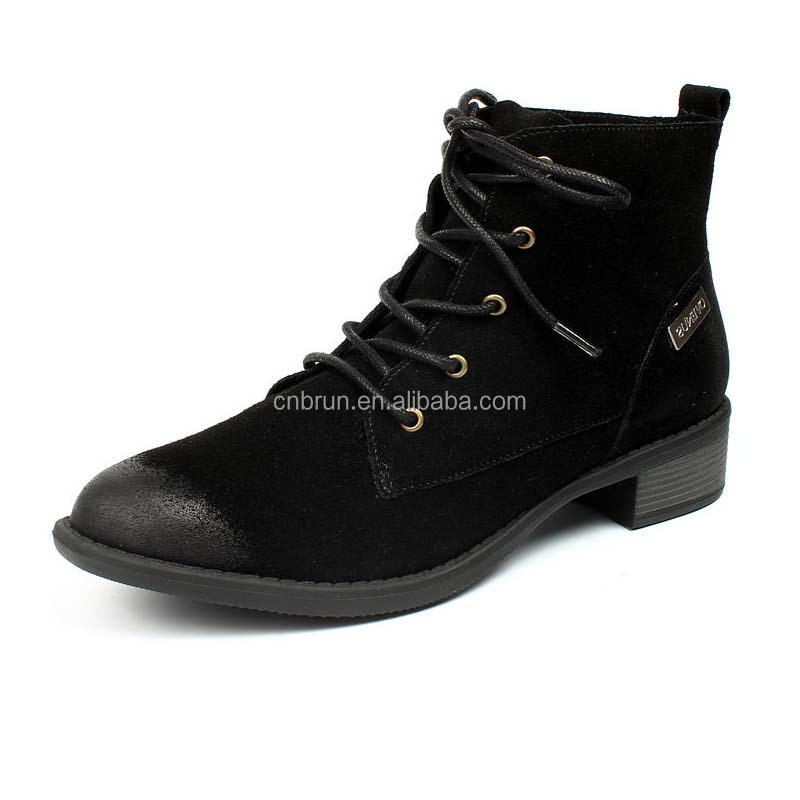 2017 China factory top quality genuine leather women dr marten boots
