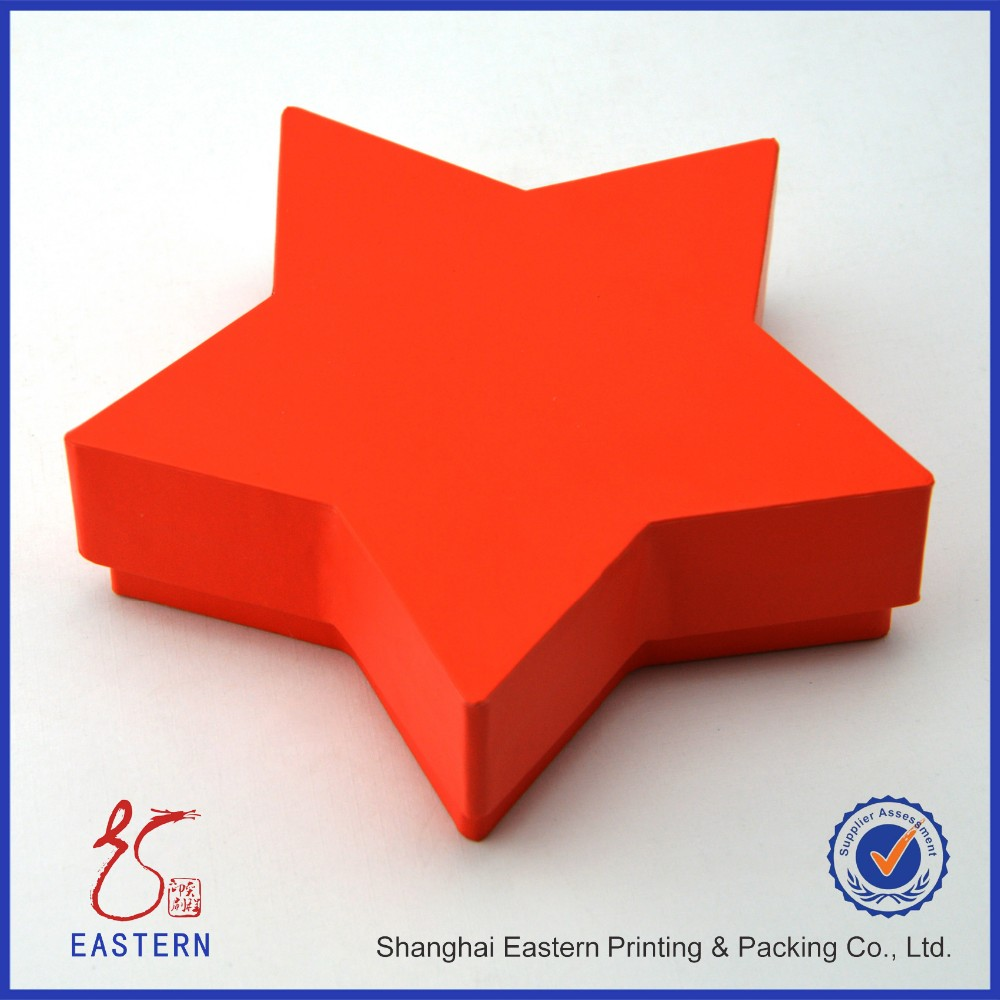 China Factory Star Shaped Gold Chocolate Packaging Box Custom Candy Paper Gift Box