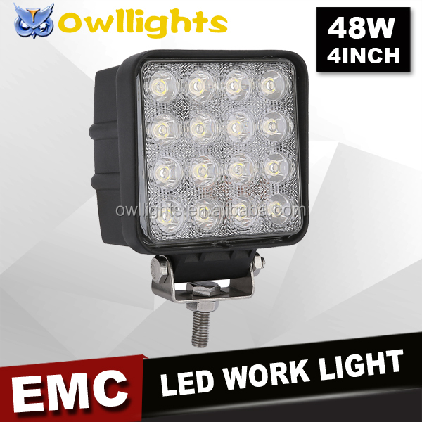 Owllights China 4x4 Car Accessories, 12 volt LED Lamp IP68 Waterproof Offroad LED Driving Light 48w LED Work Light