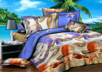 Shell starfish ocean ployester microfiber 3D bedding sets