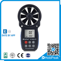 High Accuracy Air Velocity Flow Temperature Wireless Anemometer wind meter anemometer Digital Anemometer